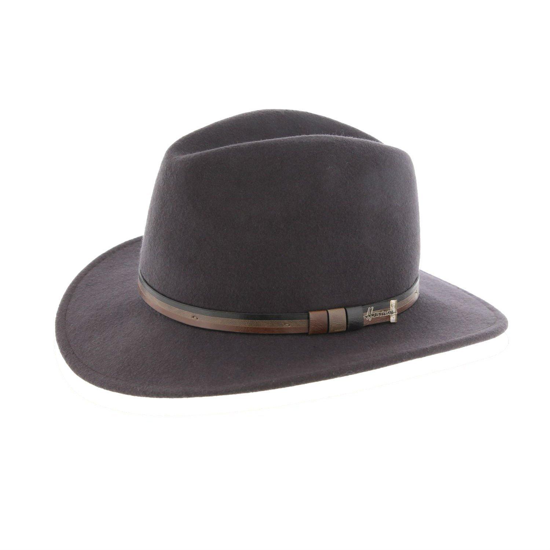 plooibare hoed in wol Herman antraciet