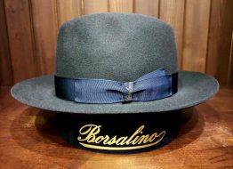 borsalino hoed classico hoedrand omhoog op harbor of men