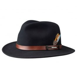 hoed traveller vitafelt back in black stetson on harbor of men