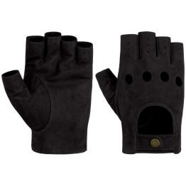 leather driver gloves without fingers cognac