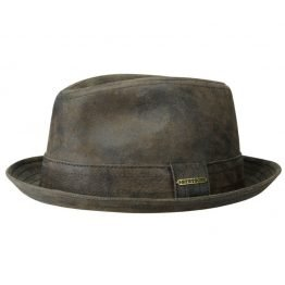 vintage leather trilby stetson on harbor of men
