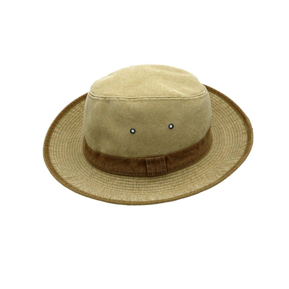 UV werende hoed camel side shot