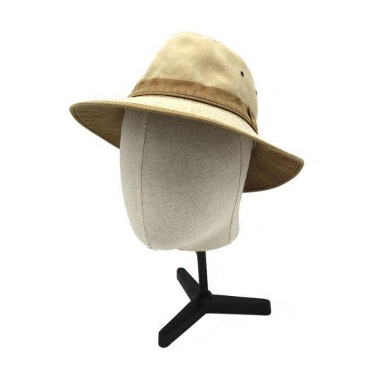 UV werende hoed camelmet hoofd brimdown shot