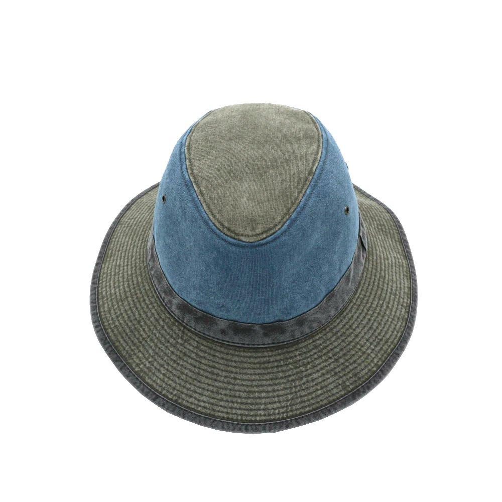 uv beschermende zomerhoed appelblauw zeegroen front shot