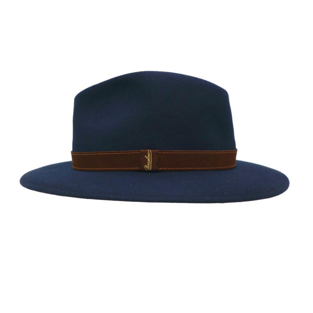 hoed met brede rand in konijnvilt royal blue Borsalino