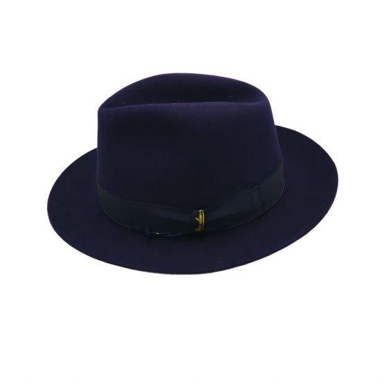 Bogaert hoed nightblue Borsalino side shot