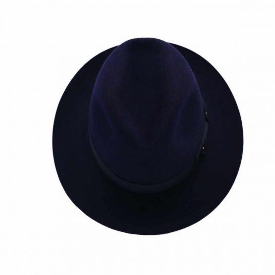 Bogaert hoed nightblue Borsalino top shot