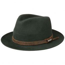 hoed in 100% haarvilt van stetson groen