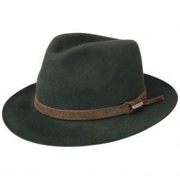 hoed in 100% haarvilt van stetson groen brim down