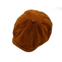 newspaperboy cap goat suede stetson side shot