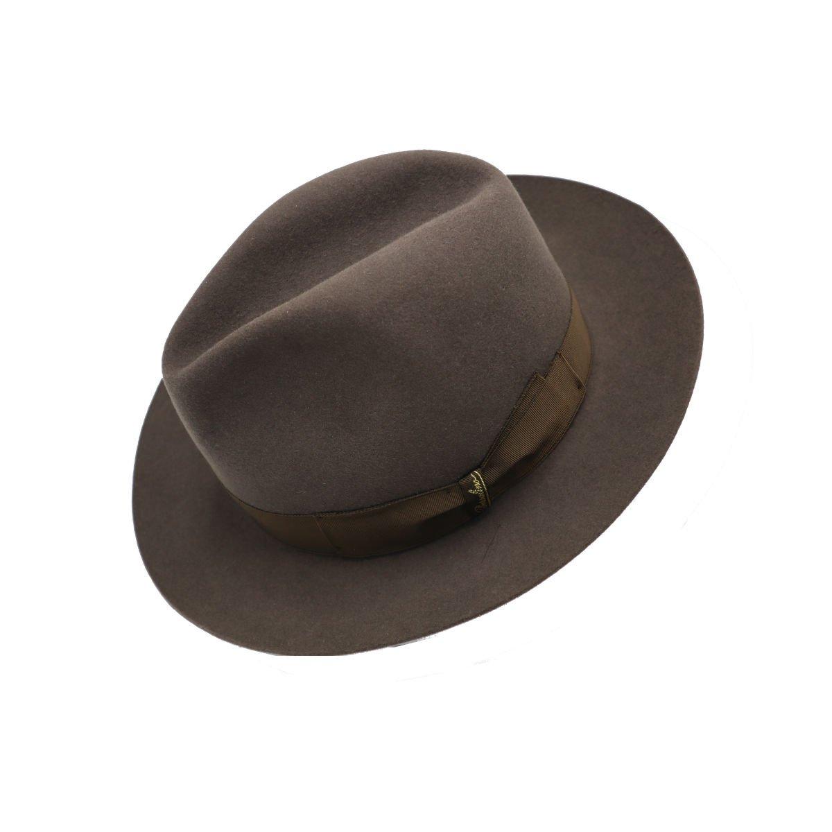 hoed in haarvilt van Borsalino tilted