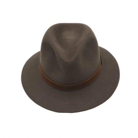 hoed met brede rand in konijnvilt van Borsalino