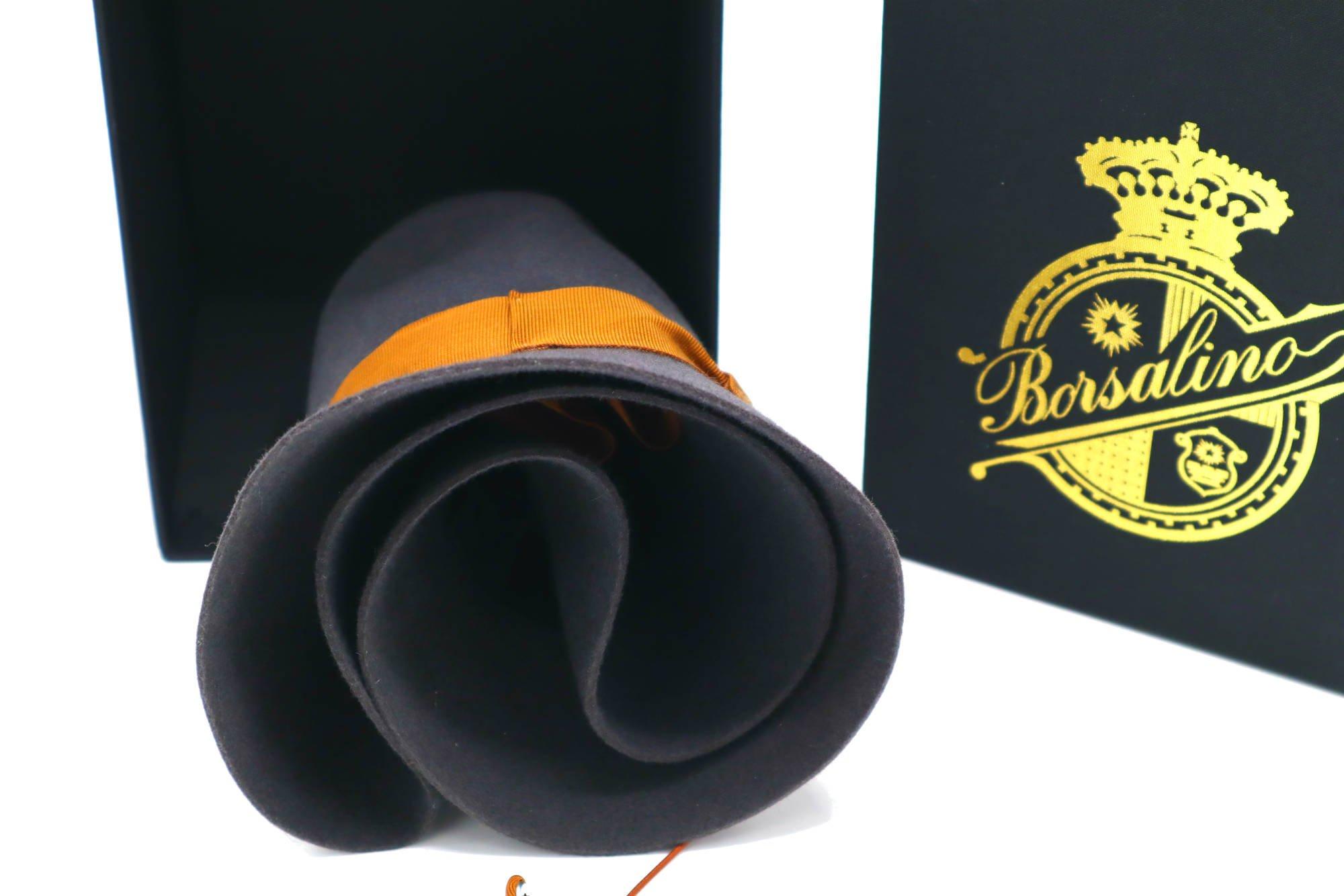 opvouwbare Borsalino hoed topshot close up