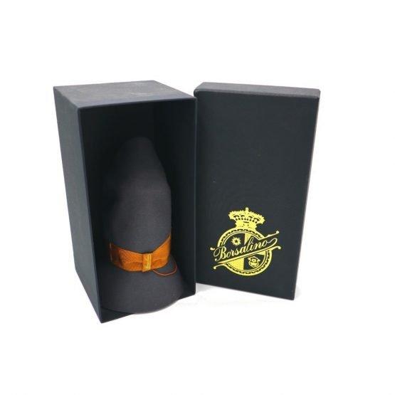 opvouwbare Borsalino hoed topshot folded