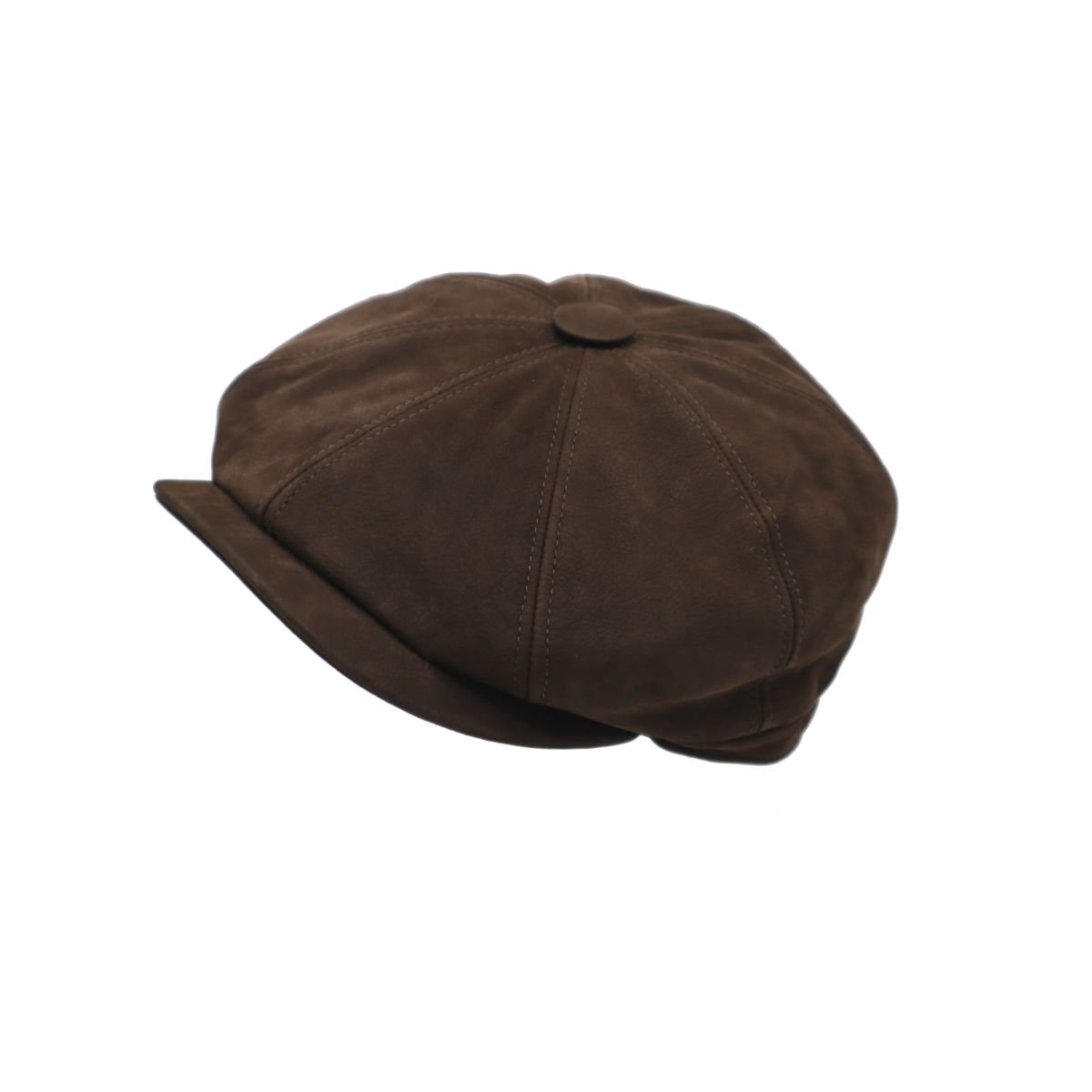 retro pet newspaperboy cap in leder van city sport side shot