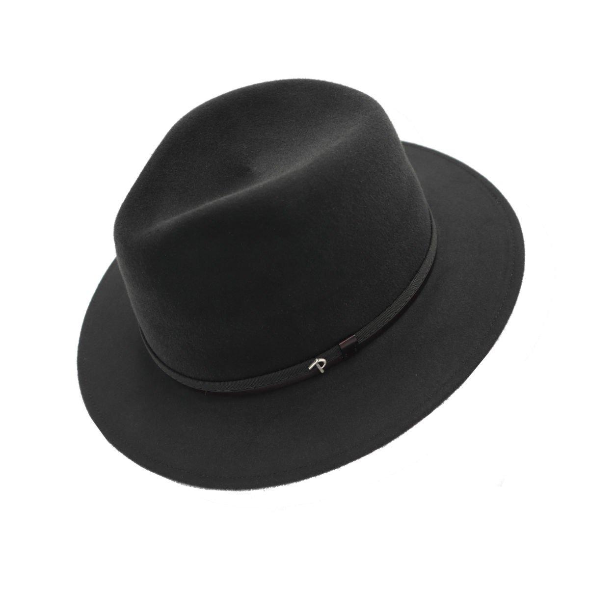hoed in haarvilt panizza charcoal gray