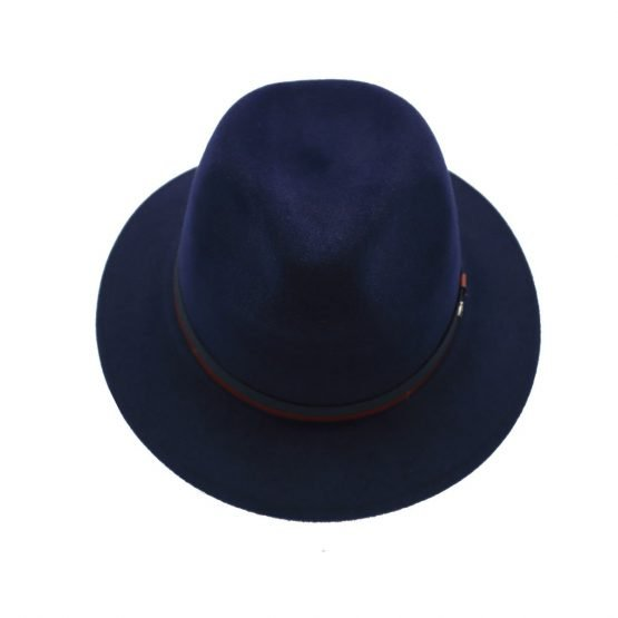 hoed in haarvilt panizza royal blue front shot