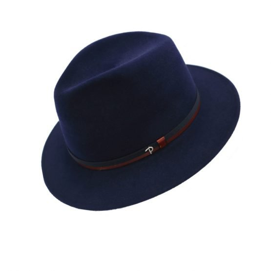 hoed in haarvilt panizza royal blue