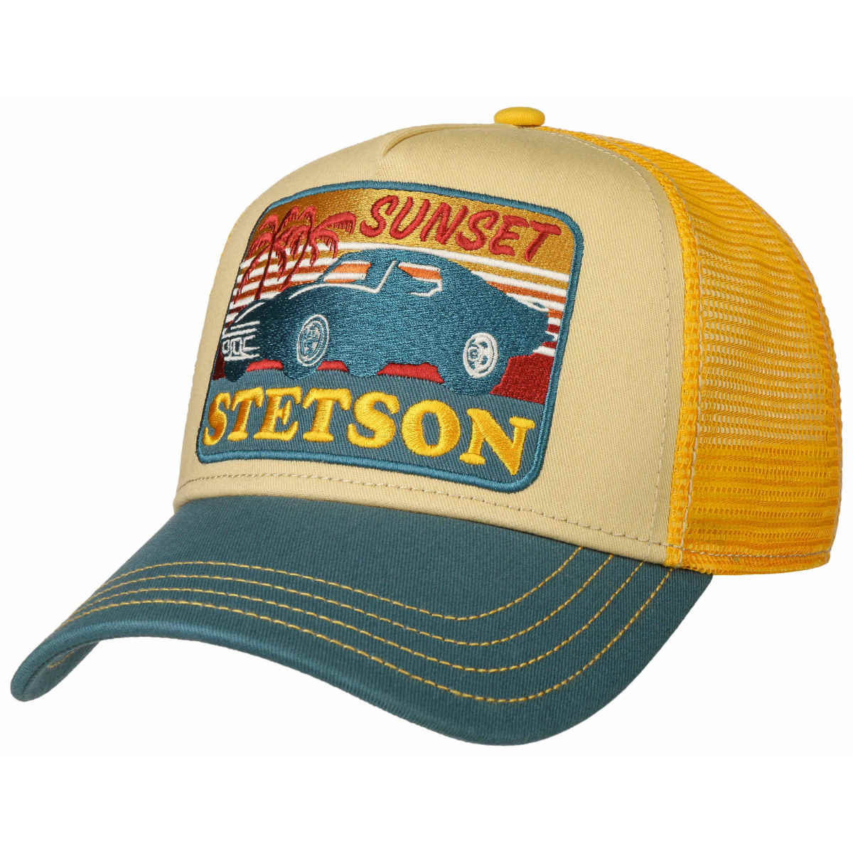 retro trucker cap sunset Stetson
