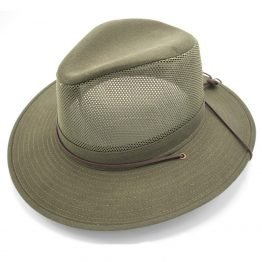 """the bushman"" ventilerende zomerhoed huntergreen"