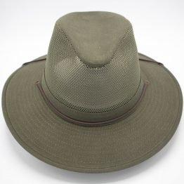"""the bushman"" ventilerende zomerhoed huntergreen front shot"
