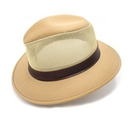 """Wild coyote"" ventilating summer hat camel"