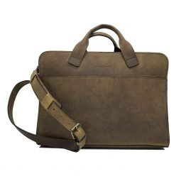 The businesman laptoptas met riem