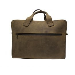 The businesman laptoptas achterkant