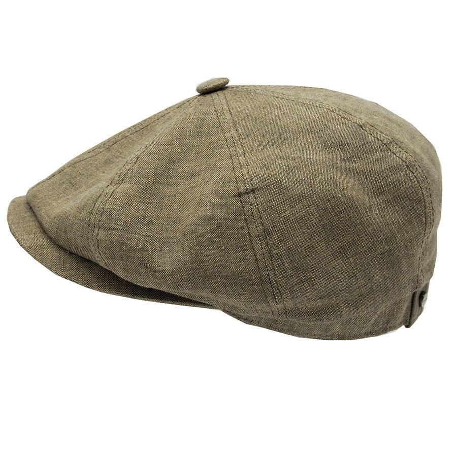 linnen newspaperboy cap