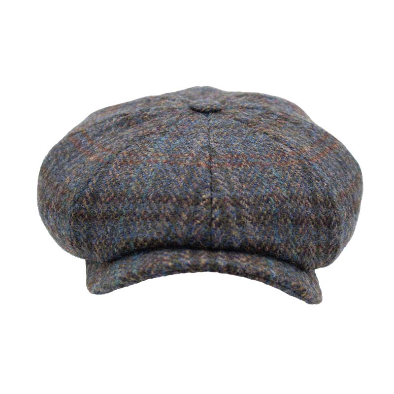 newspaperboycap_harris_tweed_Stetson_harbor_of_me_front_shot