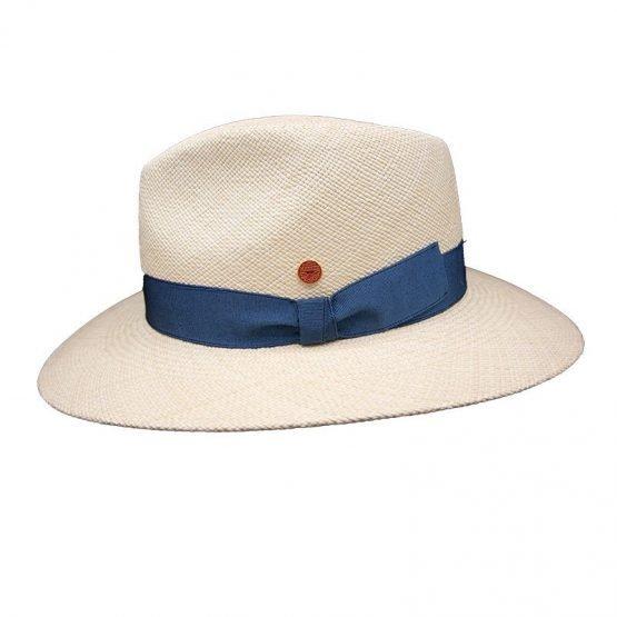 Panamahoe_ met_blauwe_hoofdband_zijkant